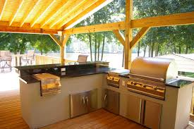 outdoor kitchen ideas modern stainless steel gas grill natural