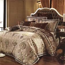 Brown Queen Size Comforter Sets Brown Tan And Royal Gold Gothic Pattern Retro Style Moroccan