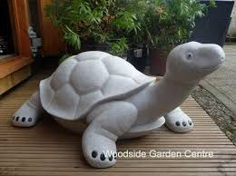 large marble resin happy tortoise garden ornament woodside