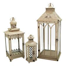 pomeroy indoor outdoor lantern table decor 3 piece set brown