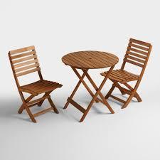 Folding Wicker Chairs Natural Wood Mika Folding Chairs Set Of 2 World Market