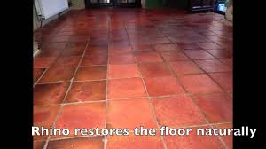 terracotta tile restoration with rhino pads