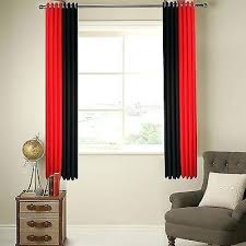 2 Tone Curtains Black Curtains Ring Top Fully Lined 2 Tone Stripe Ready Made