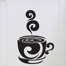Cup of Coffee Decal Vinyl Wall Sticker Home Dining Decor
