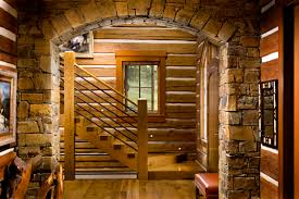 log homes interiors lifeline interior hazelnut log home stain and perma white log