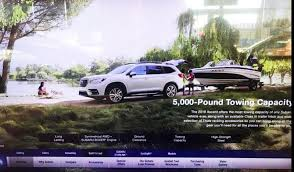 subaru camping trailer 2019 subaru ascent first photo of the production 7 seater suv