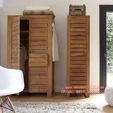 lemari pakaian minimalis 3 pintu khas kota jepara mebel jati jepara