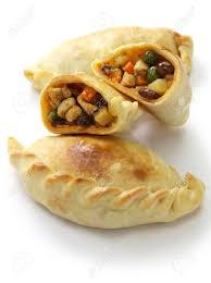 cuisine argentine empanadas empanadas de pollo chicken empanada food stock photo