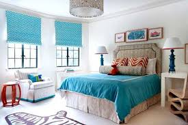Modern Blue And White Bedroom Teen Room Blue Bedroom Wall Color - Bedroom decorating ideas blue