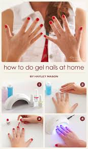 how to do gel nails at home more com
