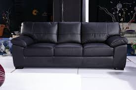 Black Leather Sofa Recliner Black Leather And Material Sofas Leather Sofa