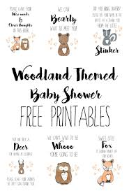 Baby Shower Invitations Bring A Book Instead Of Card Woodland Baby Shower Free Printables Themed Baby Showers Free