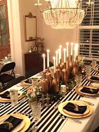 Gold Table Centerpieces by Birthday Dinner Table Decor Image Inspiration Of Cake And