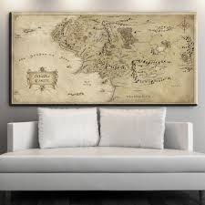 The Hobbit Map Online Shop Zz1614 Map Of Middle Earth The Hobbit Movie Poster