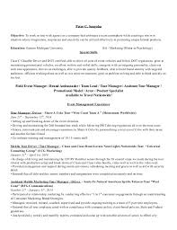 Resume Examples Promotion Within Same Company by 28 Promotion Resume Sample 2014 Fl Event Marketing And