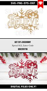 believe svg file christmas ornament svg christmas clipart