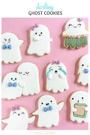 darling halloween ghost sugar cookies tinselbox