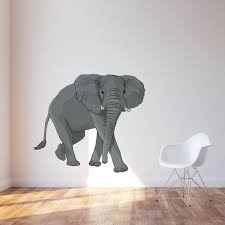 elephant printed wall decal