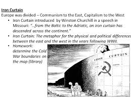 Iron Curtain Political Cartoon Cold War We Will Be Exploring The Cold War From An