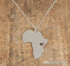 silver heart necklace wholesale images N034 african map necklace country of south africa map necklace jpg
