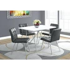M S Dining Tables Ms Dining Tables Dining Table White Chrome Metal Bms Dining Table