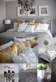 bedding set yellow grey white simple modern bedding sets