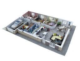 plan maison plain pied 3 chambres 100m2 plan maison traditionnelle modèle créadèle soleil plans de maison