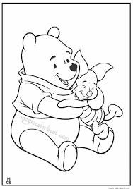 free winnie pooh coloring pages cute pooh bear balloon slam