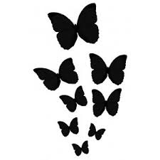 butterfly silhouettes flowers gardens and butterflies