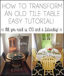 tile table top makeover how to transform an old tile table tutorial