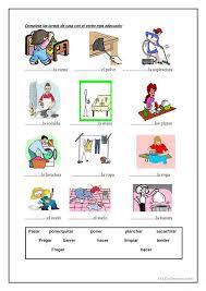 las tareas de la casa spanish worksheets hojas de trabajo