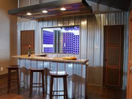 Small Basement Bar Ideas Decorating Wood Flooring Design Ideas With Wood Barstools And