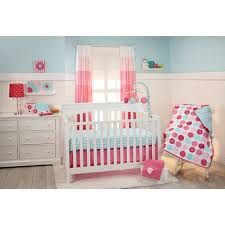 little bedding by nojo tickled pink 3 piece crib bedding set