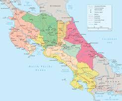 san jose costa rica on map map of costa rica san jose