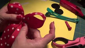 minnie mouse hair bow how to make a simple minnie mouse hair bow