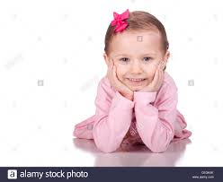 Cute Child by Image Of A Cute Child Laying Down With Her Hands Under Her Chin