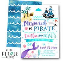 mermaid pirate invitation mermaid and pirate party invitation