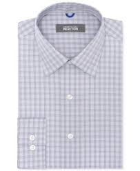 kenneth cole reaction non iron slim fit thunder check dress shirt