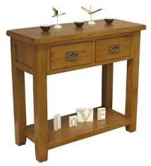 Telephone Console Table Tucan Rustic Oak 2 Drawer Console Table Oak Console Tables Uk