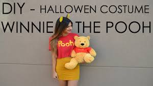 diy halloween costume winnie the pooh youtube