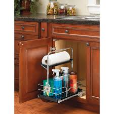 kitchen sink cabinet caddy rev a shelf undersink pullout removable cleaning caddy sink base accessories chrome