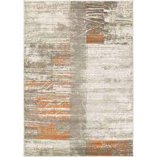 Orange And Brown Area Rug Orange Area Rugs Rugs The Home Depot