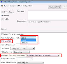 configure with the group policy object administrative template