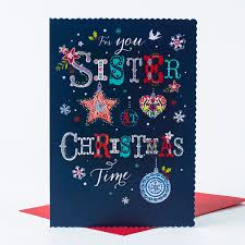 christmas card sister christmas decorations only 99p