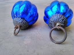 Seasonal Home Decorations Holiday U0026 Seasonal Vintage Old Glass Blue Kugel Christmas
