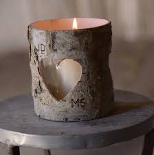 Rustic Dining Table Centerpieces by Delightful Image Of Round Heart Birch Bark Candle Holders As