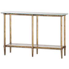 Uttermost Table Uttermost 24421 Elenio Glass Console Table Homeclick Com