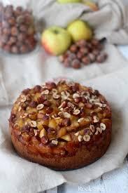 chataigne cuisine gâteau automnal aux pommes noisettes et farine de châtaigne 100