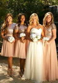 mix and match sparkle crop top bridesmaid dresses from