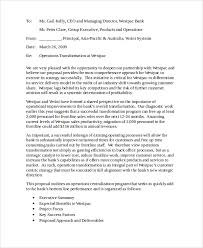 bunch ideas of sample business proposal letter bank with template